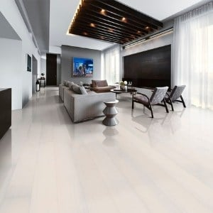 white hardwood floors for modern scandinavian decor - white oak