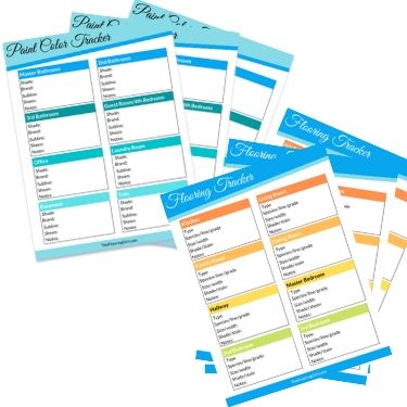 Painting and flooring tracker printables