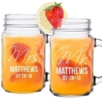personalized mason jar gift