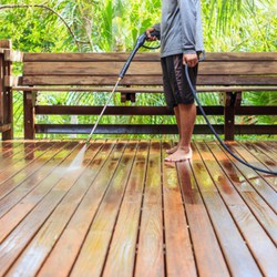 weekend projects - powerwash the deck