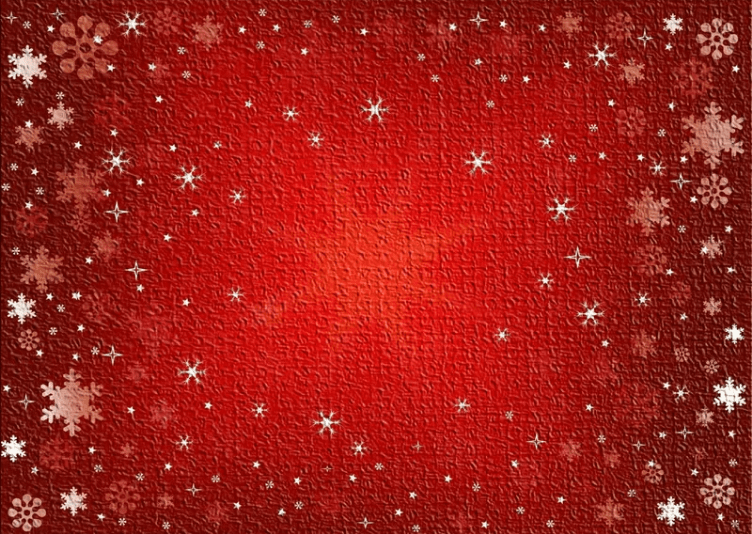 red christmas rug with gold and white stars