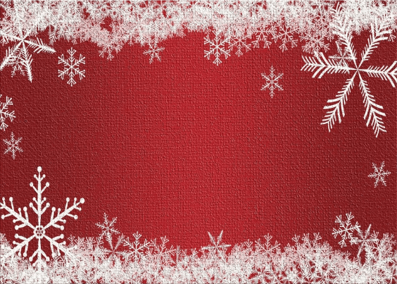 red christmas rug with snowflakes