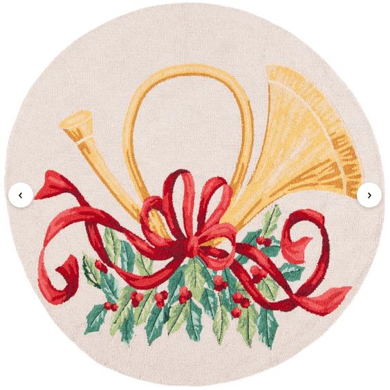 round christmas rug