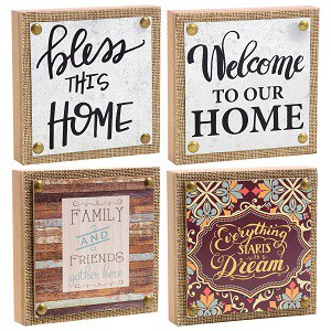 dollar store decorating ideas - sentiment plaques