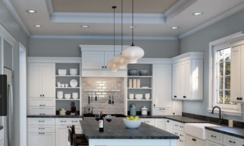 Grayish blue - SW Krypton in kitchen