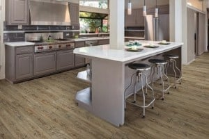 engineered vinyl plank - good for kitchens