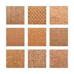 sisal rug patterns - basket weave, boucle, herringbone