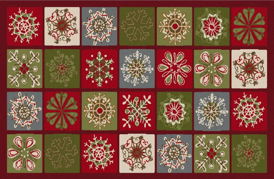snowflake area rug for the holidays