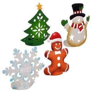 dollar store home decor christmas tealight candle holder