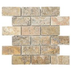 tumbled natural stone mosaic for ktichen backsplashes