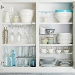 make shelving white in the basement