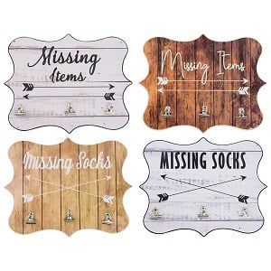 home decor - missing item wall plaque with farmhouse style