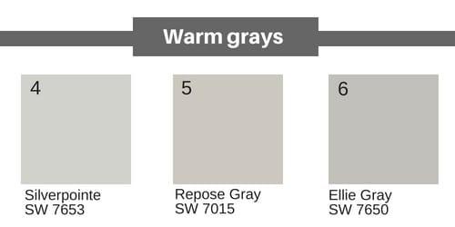 neutral paint colors - warm greys