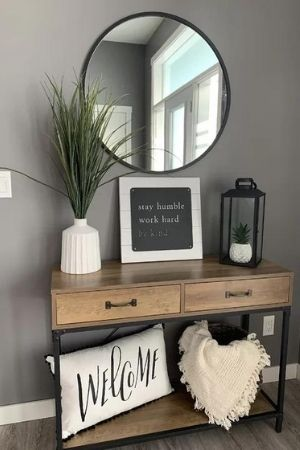 best warm grey paint from sherwin williams - entryway