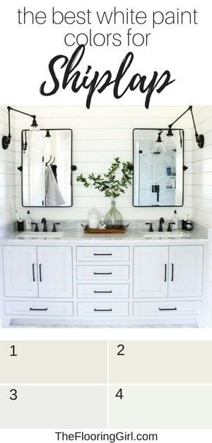 white paint colors for shiplap walls