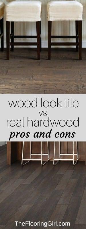 hardwood flooring vs wood look tile planks