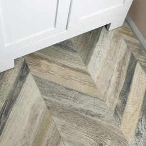 tile that looks like wood - chevron pattern